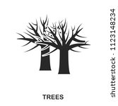tree icon. line style icon...