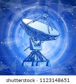 satellite dishes antenna  ... | Shutterstock .eps vector #1123148651