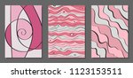 vector covers set in hand drawn ... | Shutterstock .eps vector #1123153511