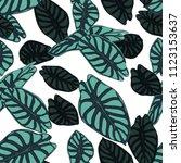 seamless tropical pattern.... | Shutterstock .eps vector #1123153637