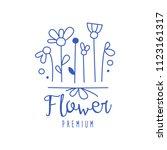 flower premium  florists ... | Shutterstock .eps vector #1123161317