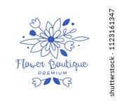 flower boutique premium logo... | Shutterstock .eps vector #1123161347
