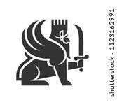 lion of persia vector logo. | Shutterstock .eps vector #1123162991