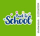 back to school typography with...   Shutterstock .eps vector #1123165334