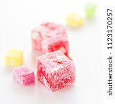 variety of turkish delight... | Shutterstock . vector #1123170257