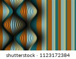 distorted striped surface. wavy ... | Shutterstock .eps vector #1123172384