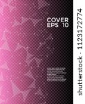 trendy cover page layout.... | Shutterstock .eps vector #1123172774