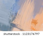abstract painting on canvas.... | Shutterstock . vector #1123176797