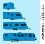 caravan silhouette   several... | Shutterstock .eps vector #112318511