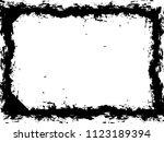 grunge frame. vector... | Shutterstock .eps vector #1123189394