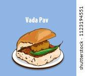 indian  maharashtra  food vada... | Shutterstock .eps vector #1123194551