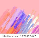 abstract painting on canvas.... | Shutterstock . vector #1123196477