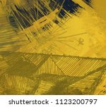abstract painting on canvas.... | Shutterstock . vector #1123200797