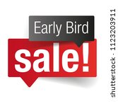 early bird sale label tag | Shutterstock .eps vector #1123203911