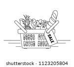 linear vector illustration of... | Shutterstock .eps vector #1123205804