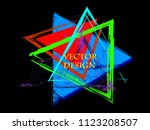 triangle retro shape. banners ... | Shutterstock .eps vector #1123208507