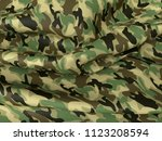 abstract military camouflage... | Shutterstock . vector #1123208594