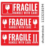 fragile  handle with care... | Shutterstock .eps vector #1123218194