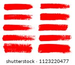 vector red paint  ink brush... | Shutterstock .eps vector #1123220477