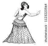 a persian dancer  after a... | Shutterstock .eps vector #1123223564