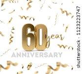 60 year anniversary celebration.... | Shutterstock . vector #1123223747