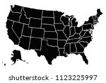 black map of united states of... | Shutterstock .eps vector #1123225997