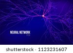 neural network 3d abstract... | Shutterstock .eps vector #1123231607
