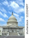 Stock photo the front of the united states capitol in washington d c 112324097