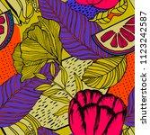 tropical seamless pattern... | Shutterstock .eps vector #1123242587