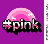 pink typography design for t... | Shutterstock .eps vector #1123244657
