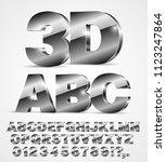 3d isometry alphabet vector...   Shutterstock .eps vector #1123247864