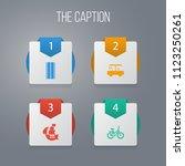 icon transportation set of... | Shutterstock .eps vector #1123250261