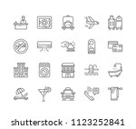 set of hotel outline icons... | Shutterstock .eps vector #1123252841