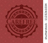 carefree retro red emblem | Shutterstock .eps vector #1123261034