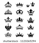 collection of crown silhouette... | Shutterstock .eps vector #1123265294