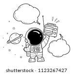 astronaut hand drawn | Shutterstock .eps vector #1123267427