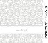 classic  elegant card or... | Shutterstock . vector #112327607