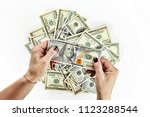 dollars usa. top view of young...   Shutterstock . vector #1123288544