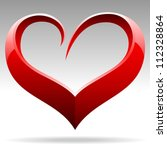 heart shape vector object   Shutterstock .eps vector #112328864