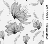 seamless floral background ... | Shutterstock .eps vector #112329125
