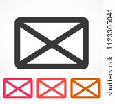 vector icon mail 10 eps | Shutterstock .eps vector #1123305041
