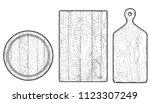wood cutting board illustration ... | Shutterstock .eps vector #1123307249