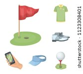 golf and attributes cartoon... | Shutterstock .eps vector #1123308401