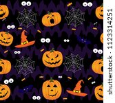 abstract halloween pattern for... | Shutterstock . vector #1123314251