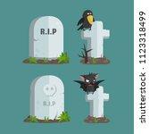 vector set of halloween icons... | Shutterstock .eps vector #1123318499