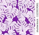 vector seamless tropical...   Shutterstock .eps vector #1123319081