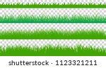 large set of fresh green spring ... | Shutterstock .eps vector #1123321211