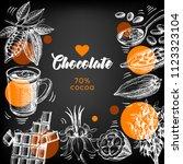hand drawn sketch cocoa... | Shutterstock .eps vector #1123323104