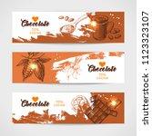 hand drawn sketch cocoa... | Shutterstock .eps vector #1123323107