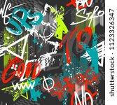 abstract seamless grunge urban... | Shutterstock .eps vector #1123326347